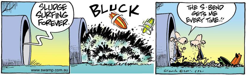 Swamp Cartoon - Sludge SurfingDecember 20, 2001