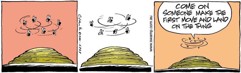 Swamp Cartoon - Cow PatDecember 22, 2001