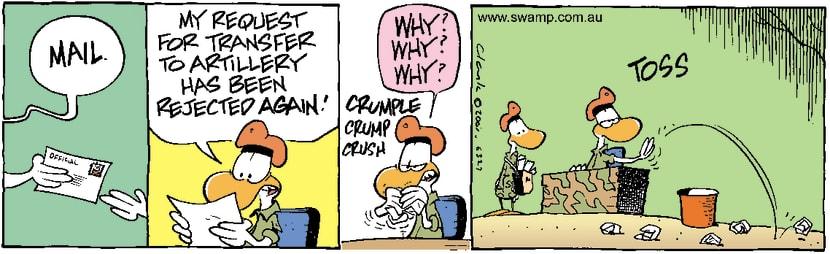 Swamp Cartoon - Artillery RequestDecember 27, 2001
