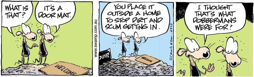 Swamp Cartoon - Door Mat 1December 29, 2001