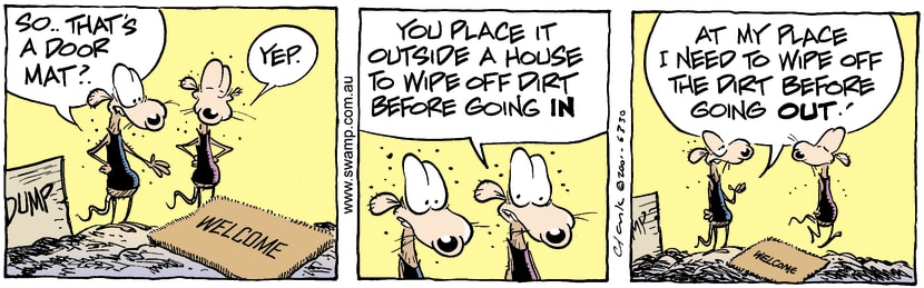 Swamp Cartoon - Door Mat 2December 31, 2001