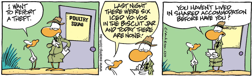 Swamp Cartoon - Biscuit TheifJanuary 5, 2002