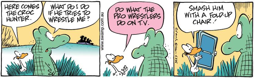 Swamp Cartoon - Croc Wrestle 2January 7, 2002