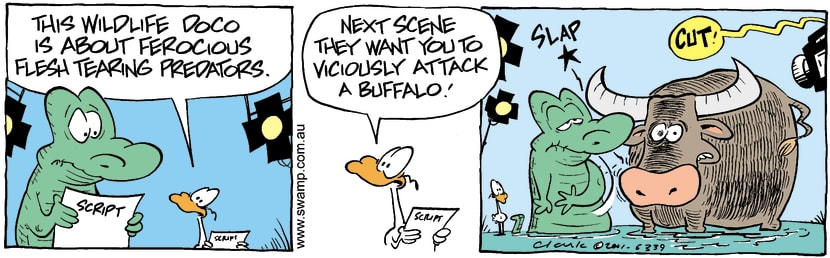 Swamp Cartoon - Swamp DocoJanuary 10, 2002