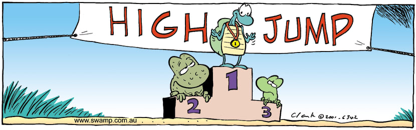 Swamp Cartoon - High JumpJanuary 15, 2002