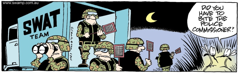 Swamp Cartoon - Swat TeamJanuary 18, 2002
