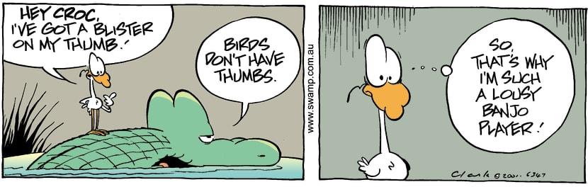 Swamp Cartoon - Sore ThumbJanuary 19, 2002