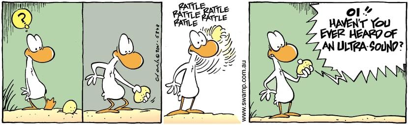 Swamp Cartoon - Egg ShakeJanuary 21, 2002