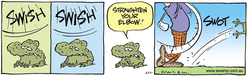 Swamp Cartoon - SwishJanuary 24, 2002