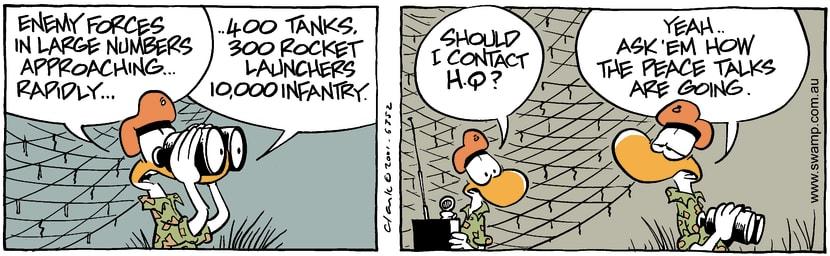 Swamp Cartoon - Military CheckJanuary 25, 2002