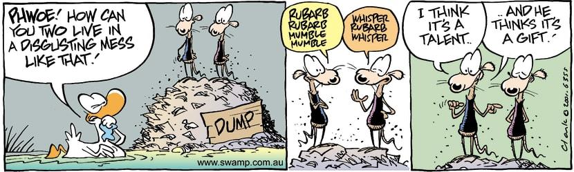 Swamp Cartoon - Smelly DumpJanuary 29, 2002