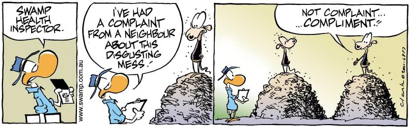 Swamp Cartoon - Dump InspectorJanuary 31, 2002