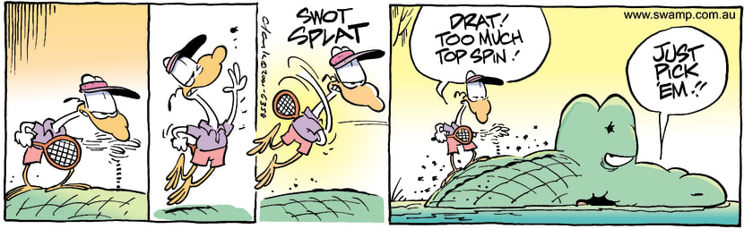 Swamp Cartoon - Nit FlickingFebruary 1, 2002