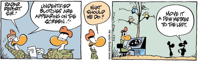 Swamp Cartoon - Screen BlotchFebruary 2, 2002