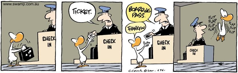 Swamp Cartoon - Check InFebruary 5, 2002