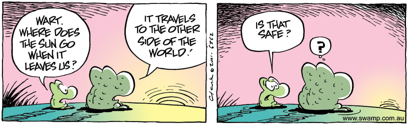 Swamp Cartoon - Travelling SunFebruary 6, 2002
