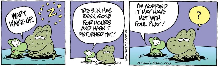 Swamp Cartoon - Missing SunFebruary 7, 2002