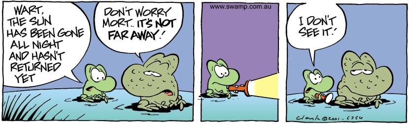 Swamp Cartoon - Missing SunFebruary 8, 2002