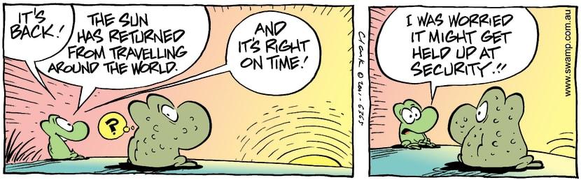 Swamp Cartoon - Seen SunFebruary 9, 2002