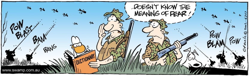 Swamp Cartoon - Swamp Duck FearlessFebruary 12, 2002