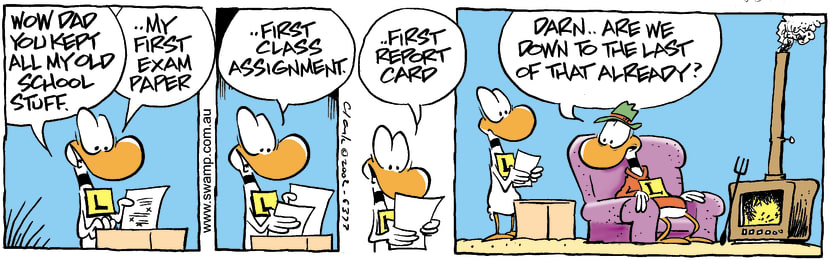Swamp Cartoon - Old School StuffFebruary 19, 2002
