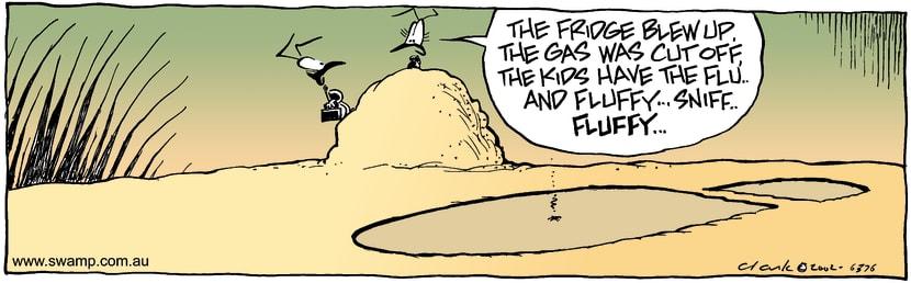 Swamp Cartoon - Bad DayFebruary 22, 2002