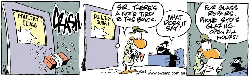 Swamp Cartoon - Brick NoteFebruary 27, 2002