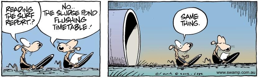 Swamp Cartoon - Surf ReportMarch 1, 2002
