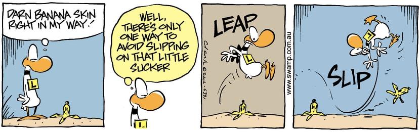 Swamp Cartoon - Banana Path 3March 12, 2002