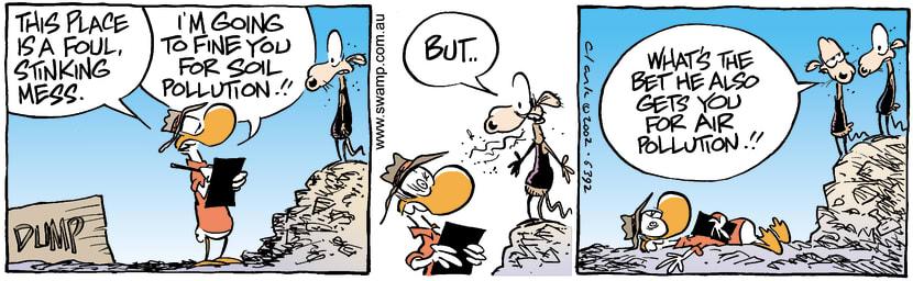 Swamp Cartoon - Smelly DumpMarch 13, 2002