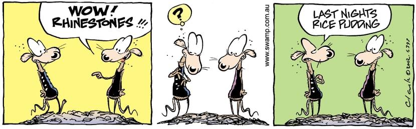 Swamp Cartoon - RhinestonesMarch 14, 2002