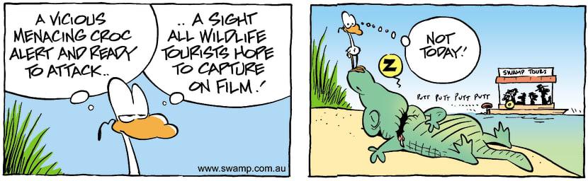 Swamp Cartoon - Vicious CrocMarch 16, 2002