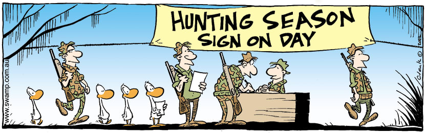 Swamp Cartoon - Hunting Sign OnMarch 18, 2002
