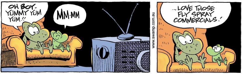 Swamp Cartoon - Yummy YumMarch 19, 2002