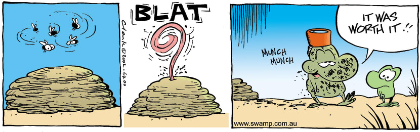 Swamp Cartoon - Sneaky EatingMarch 22, 2002