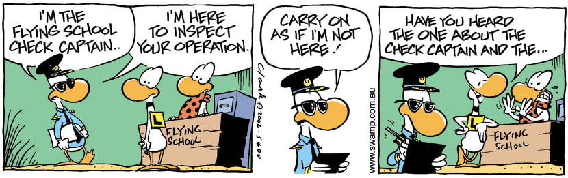Swamp Cartoon - Check Captain 1March 26, 2002