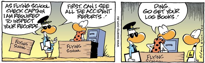 Swamp Cartoon - Check Captain 1March 30, 2002