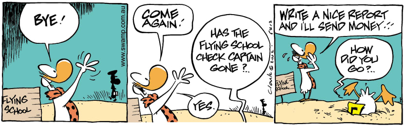 Swamp Cartoon - Check Captain 5April 5, 2002