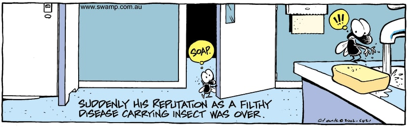 Swamp Cartoon - Filthy InsectApril 16, 2002