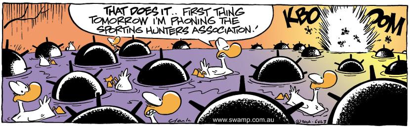 Swamp Cartoon - Water MinesApril 18, 2002