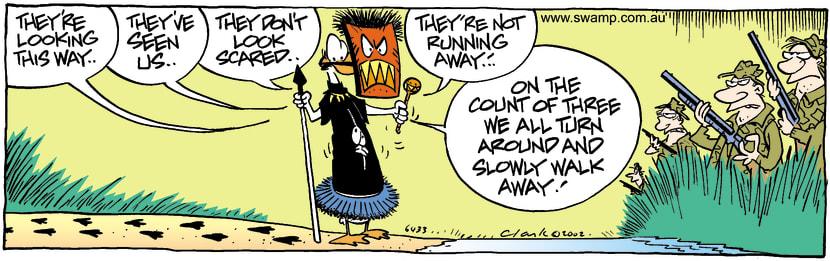 Swamp Cartoon - Tribal FoodApril 30, 2002