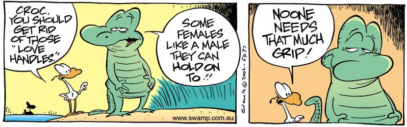 Swamp Cartoon - Love Handles 2May 4, 2002