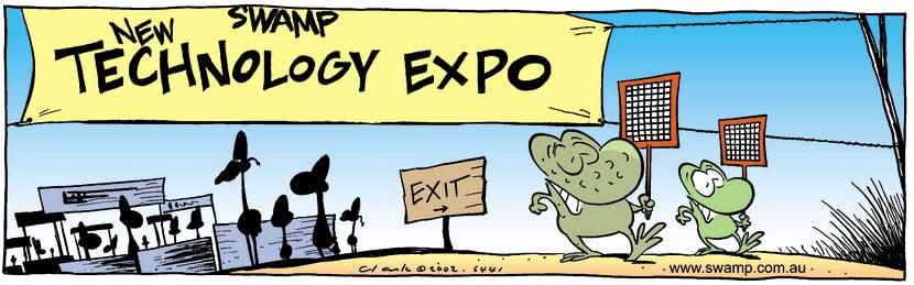 Swamp Cartoon - Tech ExpoMay 9, 2002