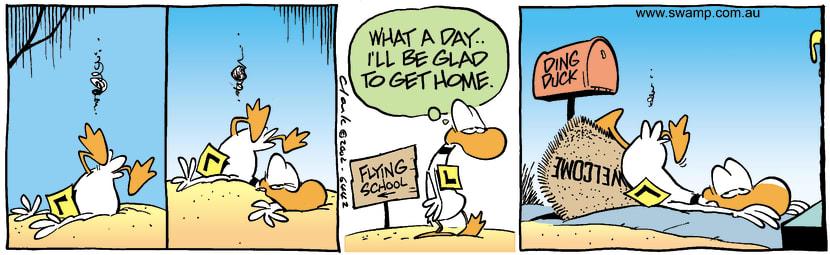 Swamp Cartoon - Welcome HomeMay 10, 2002