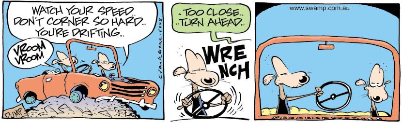 Swamp Cartoon - Dump DrivingMay 11, 2002