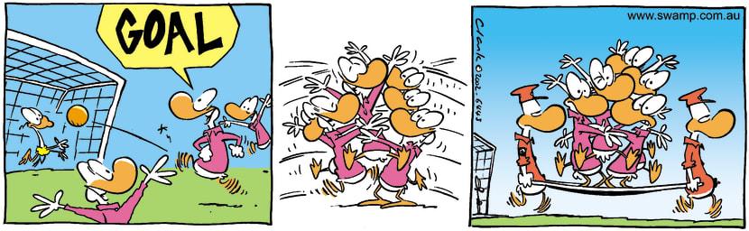 Swamp Cartoon - GoalMay 14, 2002
