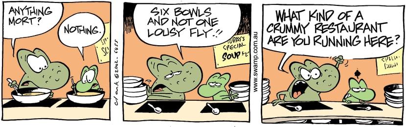 Swamp Cartoon - SoupMay 25, 2002