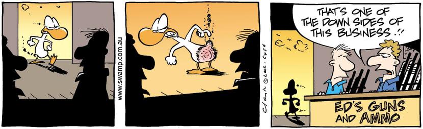 Swamp Cartoon - Duck BumMay 27, 2002