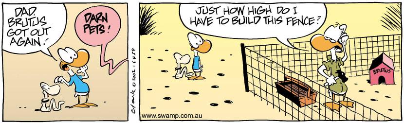 Swamp Cartoon - EscapeeMay 30, 2002