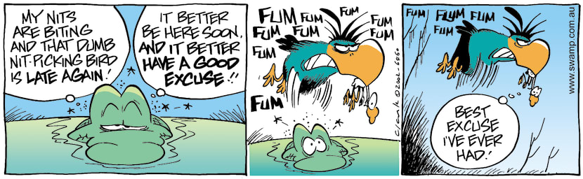 Swamp Cartoon - Good ExcuseMay 31, 2002